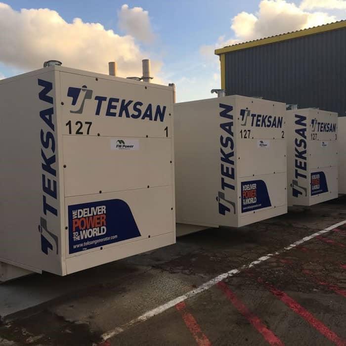 4 x 580 kVA Doosan Diesel Generators Synchronised to the grid