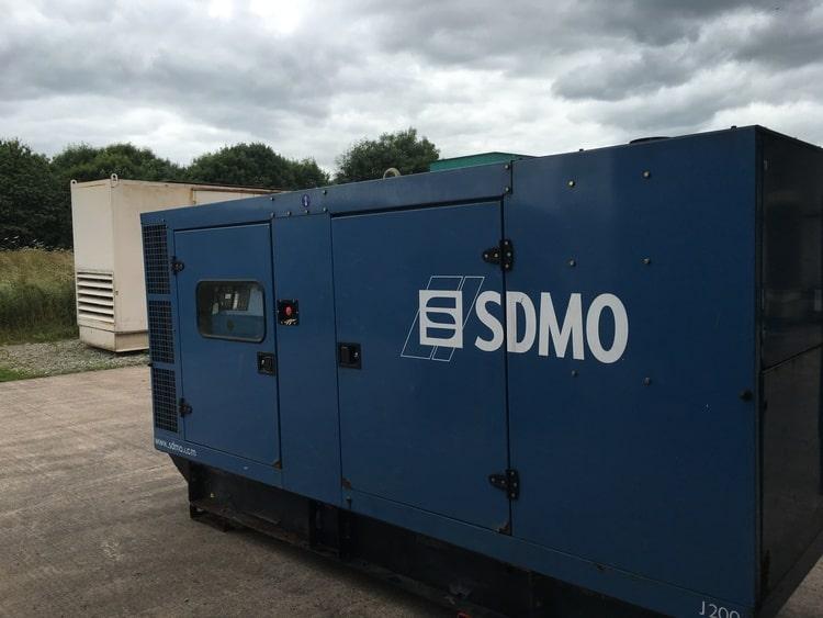 200 kVA SDMO Used Silent Diesel Generator