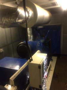 inside a containerised generator - picture by FW Power