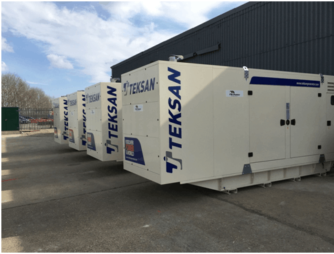 4 x 580 kVA diesel generators powering the national grid